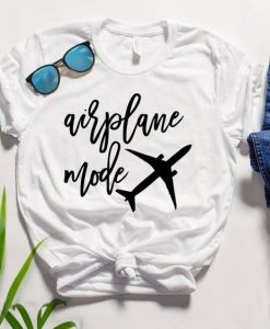 Airplane Mode Travel T-shirt ZK01