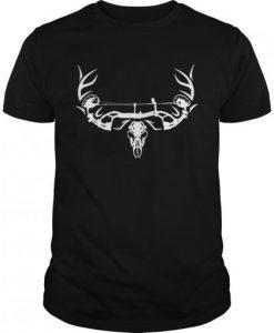 Archery Bowhunting Deer Skull Tshirt ZK01