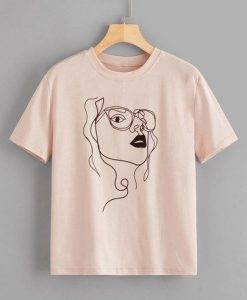 Figure Print Tee Shirt ZK01