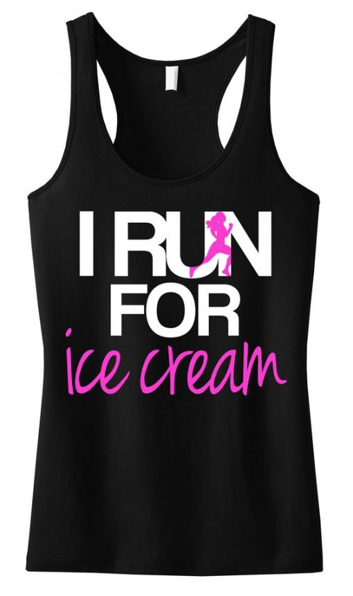 I RUN for Ice Cream TankTop ZK01