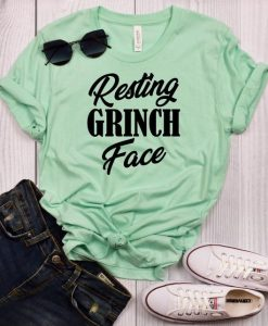 Resting Grinch Face T-Shirt ZK01