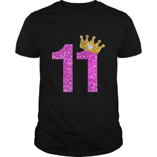 11th Birthday Girl T-Shirt EL01