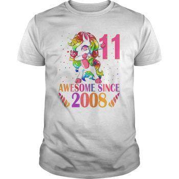 11th Birthday Unicorn Dabbing T-Shirt EL01