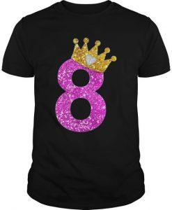 8th Birthday Girl T-Shirt EL01