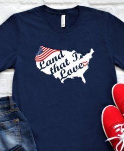 Americana Land that I Love TShirt SR01