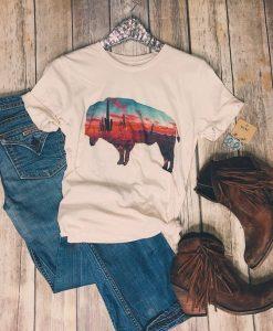 Arizona Buffalo Tee Shirt ZK01