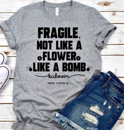 Flower Like A Bomb T-shirt ZK01