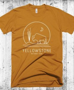 yellowstone national park graphic tee KH01