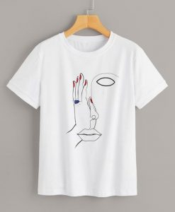 Abstract Figure Face T Shirt SR01