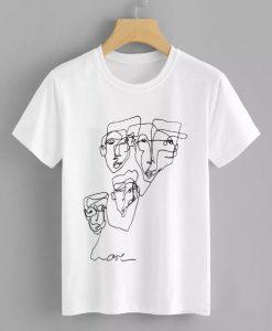 Abstract Graffiti Print T-shirt FD01