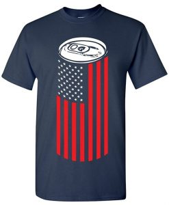 Apparel Beer Can American Flag Mens T Shirt KH01