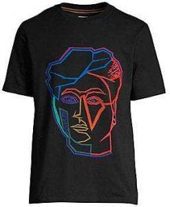 Artist Studio Face Print T-Shirt KH01