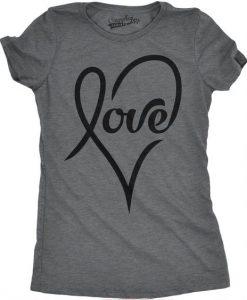 Womens Love Heart T-shirt ZK01
