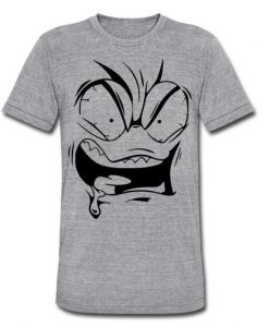 angry face T Shirt SR01