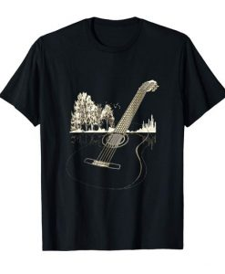 Acoustic Guitar in Nature T-Shirt FD01