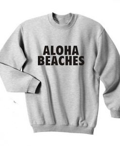 Aloha Beaches Print Sweatshirt SR01