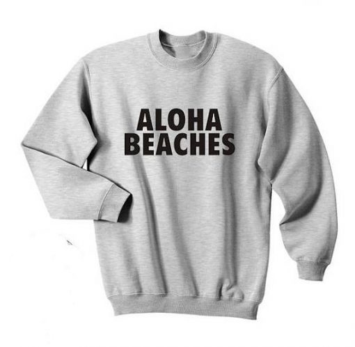 Aloha Beaches Print Sweatshirt SR01