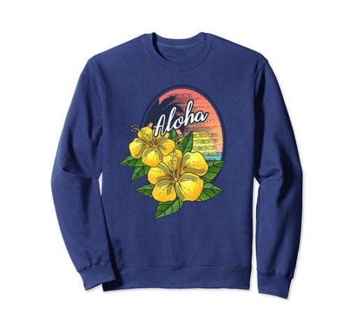 Aloha Hawaiian Hibiscus Flower Sweatshirt SR01