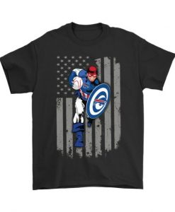 American Football Captain America T-Shirt EL01