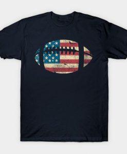 American Football Patriotic Flag T-Shirt EL01