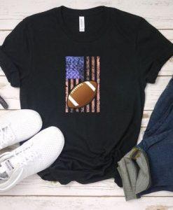 American Football Silhouette T-Shirt EL01