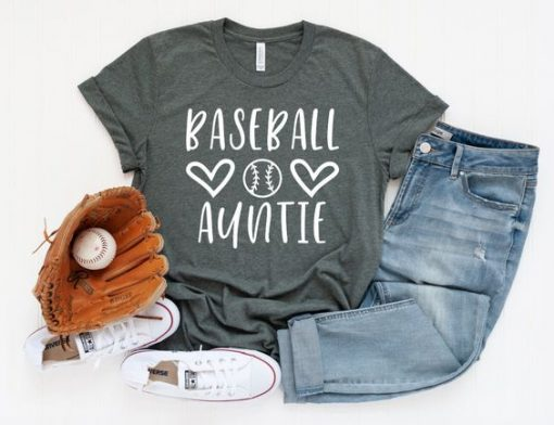 Baseball Auntie T Shirt SR01