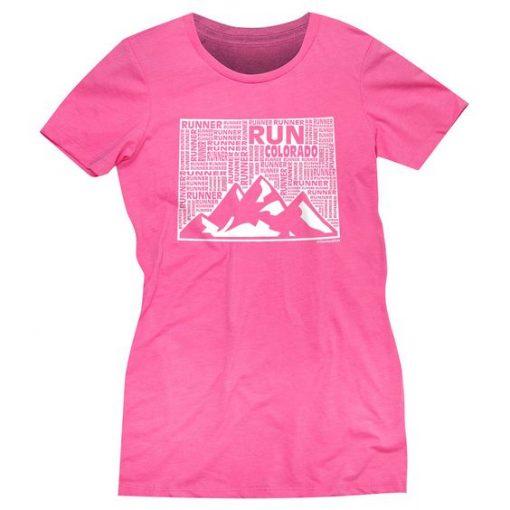 Colorado State Runner Hot Pink T-shirt ER