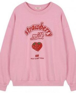 Strawberry Milk sweatshirt EM01