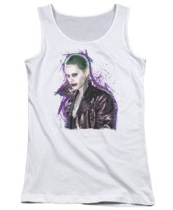 Suicide Squad Joker Stare Junior Tank Top AZ01