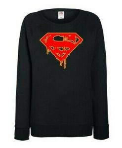 Superman Inspired Dripping Sweatshirt EL26