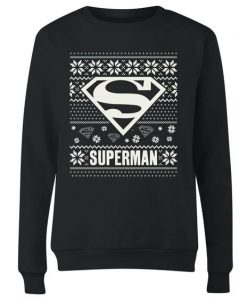 Superman Knit Christmas Sweatshirt EL26