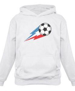 USA Soccer Ball Hoodie EM01