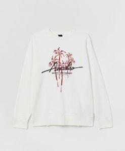 With Printed Design Sweatshirt AZ30