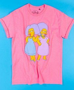 Women's Hot Pink The Simpsons Patty T-SHIRT ER