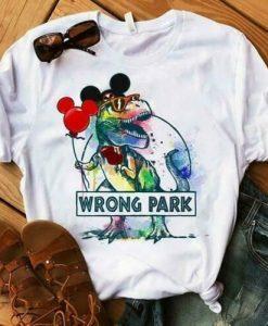 Wrong Park Disney T Shirt SR