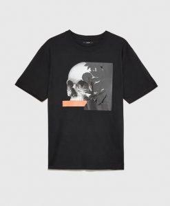 ZARA Male Skull t t-shirt ER01