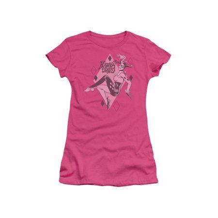 junior sheer hot pink T-shirt ER