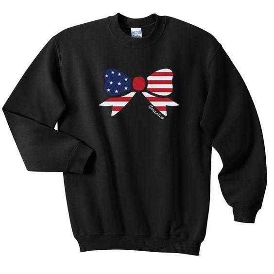 American Flag Ribon Sweatshirt FD30N