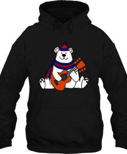 Bear Playing Guitar Hoodie FD30N