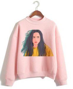 Billie Eilish Pink Sweatshirt FD30N