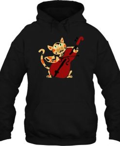 Cat Playing Cello Hoodie FD30N
