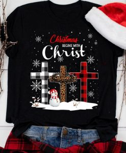 Plaid Leopard Christmas Tshirt FD30N