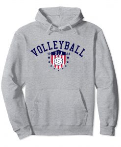 Volleyball USA Hoodie EL01