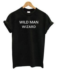 Wild Man Wizard T shirt SR7N