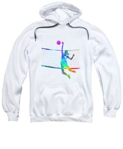 Women Player Volleyball Hoodie EL01