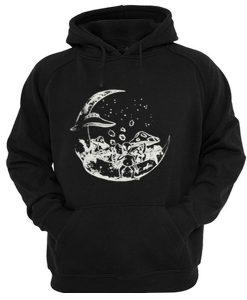alien on the moon hoodie FD28N