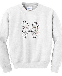 angel and devil sweatshirt FD30N