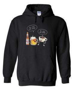 beer and coffee Hoodie SR28N