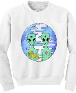 Aliens with cat sweatshirt FD3D