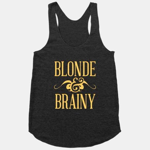Blonde Brainy Tank Top SR18D